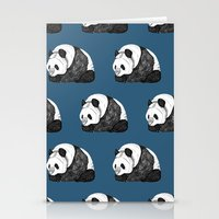 pandas Stationery Cards featuring Pandas by Diana Hope