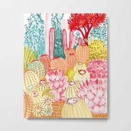 Sorbet Cactus Garden Metal Print