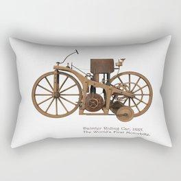 Daimler Riding Car, 1885. The world's first motorbike. Rectangular Pillow