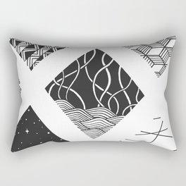 Diamond Zentangles Rectangular Pillow