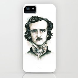 Edgar Allan Poe and Ravens iPhone Case