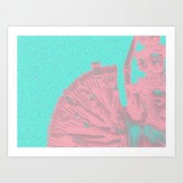 Quan Yin - Aqua 2 Art Print