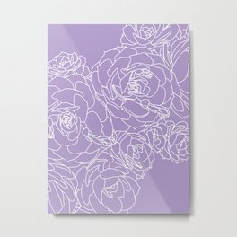 purple succulents Metal Print