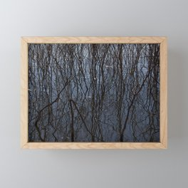 Flooded trees Framed Mini Art Print