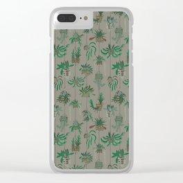 Vanda Basket Plants Ancient Blooms Clear iPhone Case