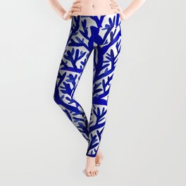 Fan Coral – Navy Leggings