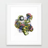 spaceman Framed Art Prints featuring SPACEMAN by • PASXALY •