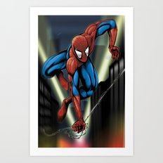 Sharp Spidey Swing Art Print