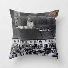 Budapest in space Throw Pillow