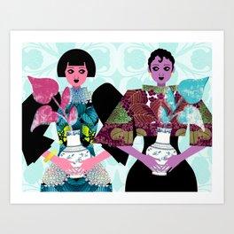 Merry Widows Art Print