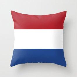 flag of netherlands Throw Pillow