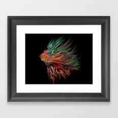 Abstract Lion's Head Framed Art Print