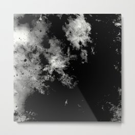 Endless Turmoil - Abstract Black And White Painting Metal Print