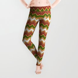Christmas zigzag pattern Leggings