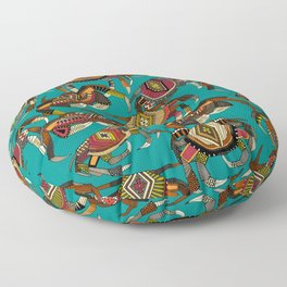 crabs teal Floor Pillow