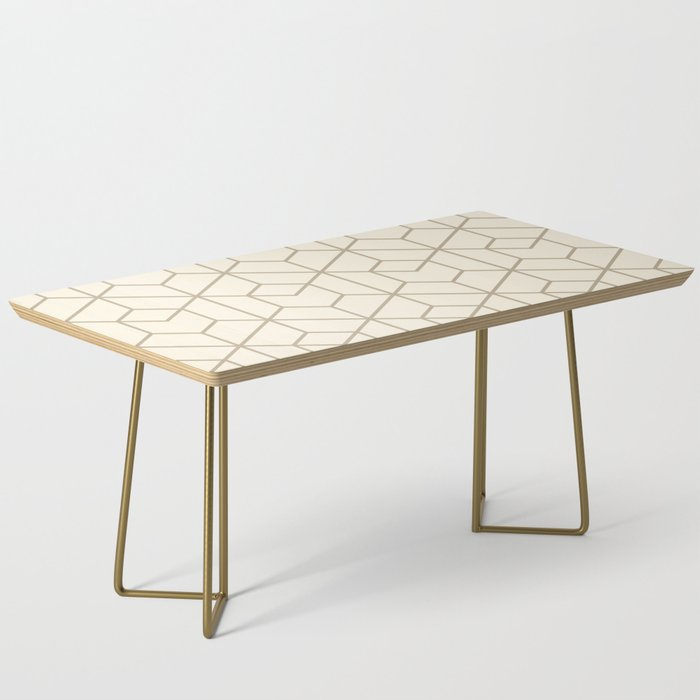 Tumbler in Cream Coffee Table