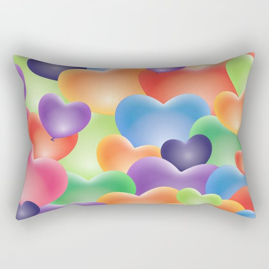 Valentine Balloon Hearts Rectangular Pillow