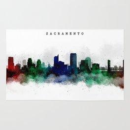Sacramento Watercolor Skyline Rug