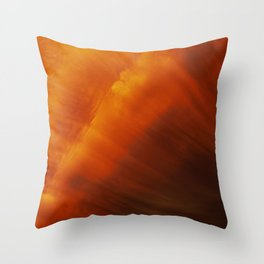 Sunset Storm Abstract Throw Pillow