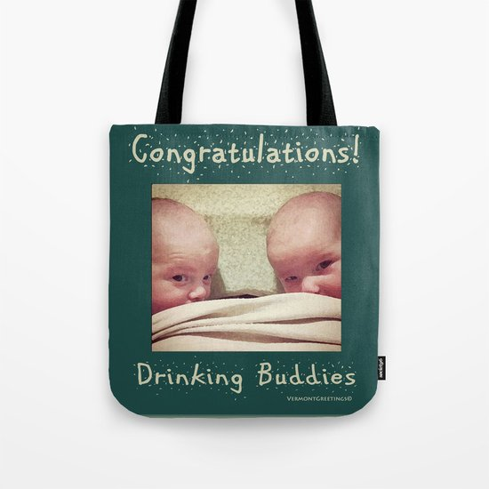Congratulations on Twins Babies! Tote Bag