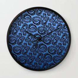Scandinavian Peacock ~ Blue 01 Wall Clock