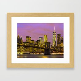 Brooklyn Bridge and Lower Manhattan 1 Framed Art Print