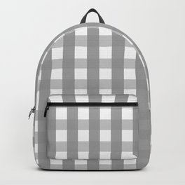 Gray Checkerboard Gingham Backpack