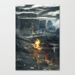 That time i burned a building down Canvas Print