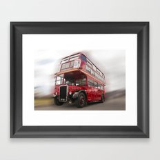 Old Red London Bus Vintage transport Framed Art Print