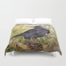 Canuck the Crow Duvet Cover