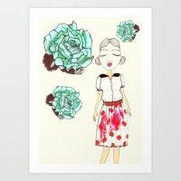 boba Art Prints featuring Boba by causemepain