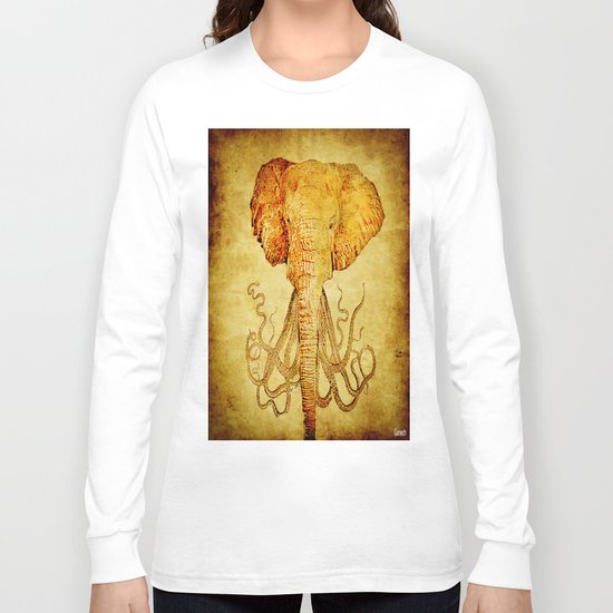 The elephant who wanted to be an octopus Long Sleeve T-shirt