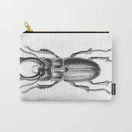 Vintage Beetle black and white Carry-All Pouch