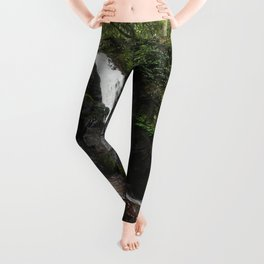 Tennessee Waterfall Smoky Mountains Color Photo Leggings