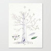 gondor Canvas Prints featuring The White Tree of Gondor by Mariya Olshevska