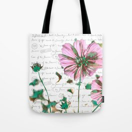 The Flower of Life - Free Hand Calligraphy! Tote Bag