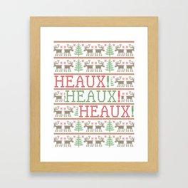 HEAUX! HEAUX! HEAUX! - Ugly Christmas Sweater Framed Art Print