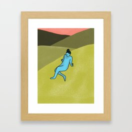 Laying Around Framed Art Print