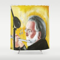louis armstrong Shower Curtains featuring Don Armstrong by Fursty22