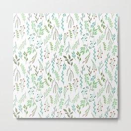 Small leaves print Metal Print
