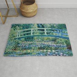 Claude Monet - Water Lilies And Japanese Bridge Rug
