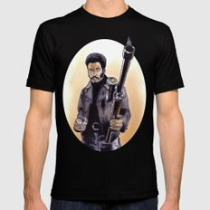 John Shaft (Are You Man Enough?) Mens Fitted Tee LARGE Black