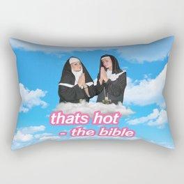 That's Hot- the Bible Rectangular Pillow