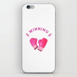 Breast Cancer winning design iPhone Skin