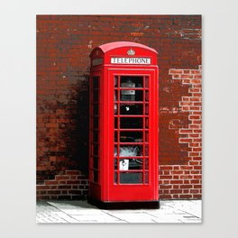 Red Phone Box- London England UK Canvas Print