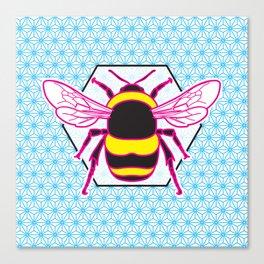 Geometric Bumblebee Canvas Print