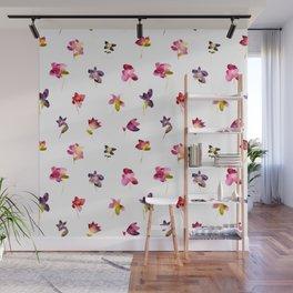 Watercolor flowers Wall Mural