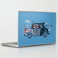 tank girl Laptop & iPad Skins featuring Vantastic Tank Girl by Brandon Ortwein
