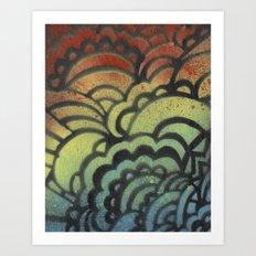Drawing Meditation Stencil 1 - Print 9 Art Print