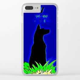 Beautiful Guard Dog I Vow To Protect Clear iPhone Case